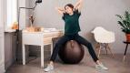 Фітнес м'яч-крісло VLUV VEEL leather-like fabric Seating Ball 75 cm 2