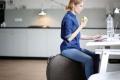 Фитнес мяч-кресло VLUV STOV Fabric Seating Ball 75cm Petrol 0