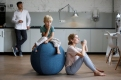 Фитнес мяч-кресло VLUV STOV Fabric Seating Ball 75cm Petrol 4