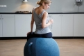 Фитнес мяч-кресло VLUV STOV Fabric Seating Ball 65cm Anthracite 3