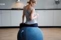 Фитнес мяч-кресло VLUV STOV Fabric Seating Ball 75cm Petrol 3